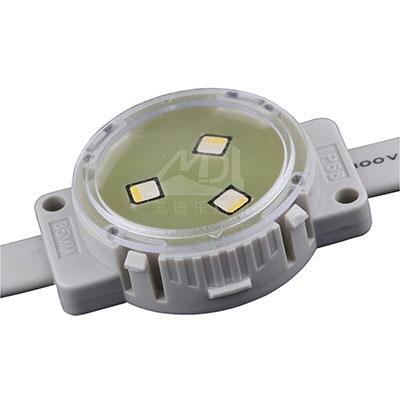led像素点光源具有相同输出的灯杯的光束角越大